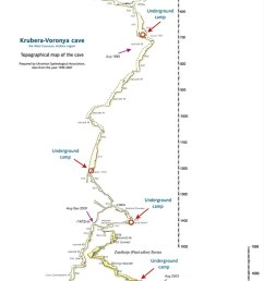 mapped intrepid explorers have charted every twist and turn of the terrifying krubera cave that [ 634 x 1425 Pixel ]