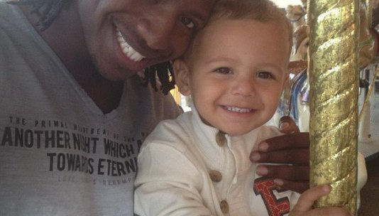 Worth the fight: Jeremiah Sampson, 26, now has full custody of his son, Hilkyah, 3