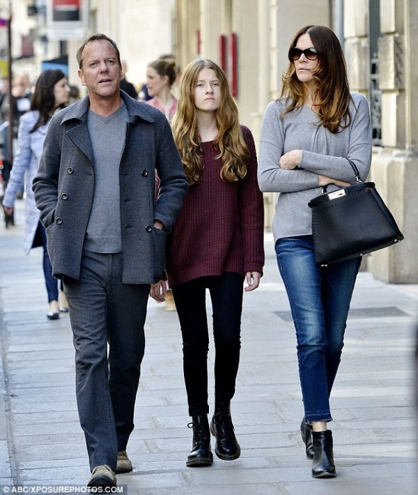 Kiefer Sutherland spotted strolling through the streets of