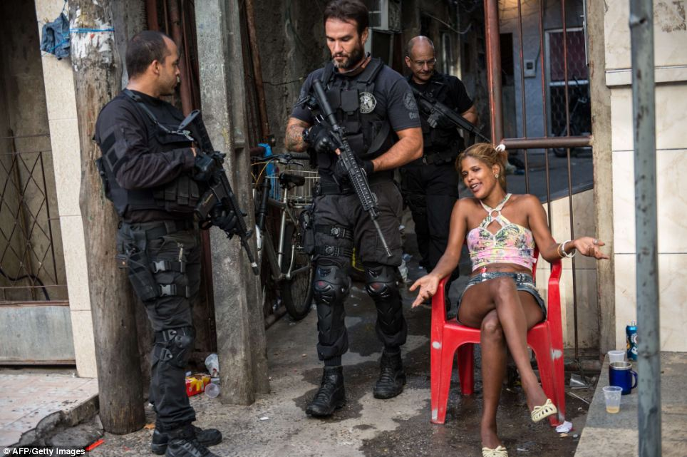 Today, daily life in one of Rio de Janerio's biggest shanty towns was disrupted by military personnel in an attempted to clean up the city before the World Cup