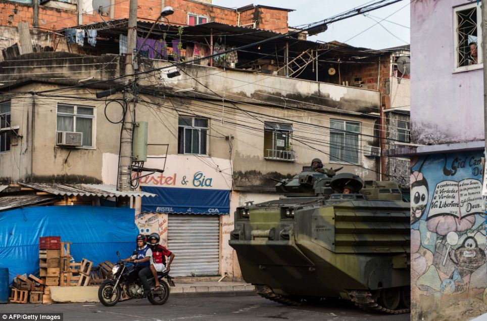 Tanks were even rolled out into the complex early Sunday morning to carry more than 1,000 police and further military personnel on an impromptu patrol