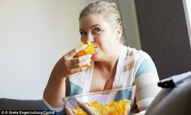 Most diets fail at about 8pm when people start snacking in front of the television