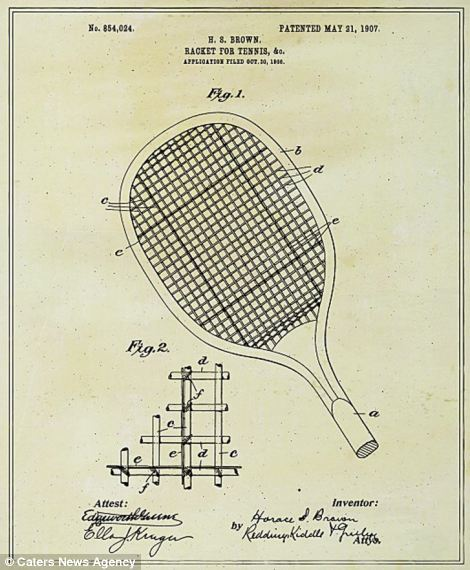 It is easy to forget that items we take for granted, like the tennis racket, were invented and designed by someone