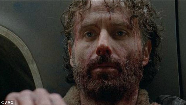 Image result for Rick grimes tears out guys throat
