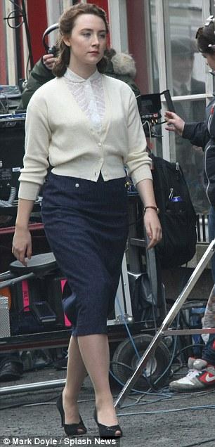 Saoirse Ronan Arrives In Period Costume Onto The Irish Set
