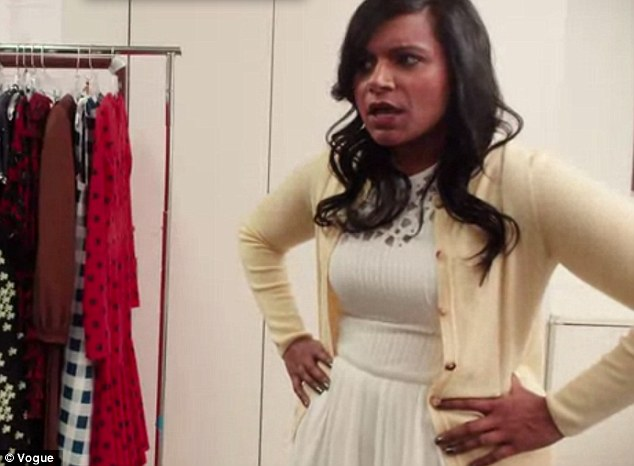 Mindy Kaling Dons White At Her First Vogue Fitting In