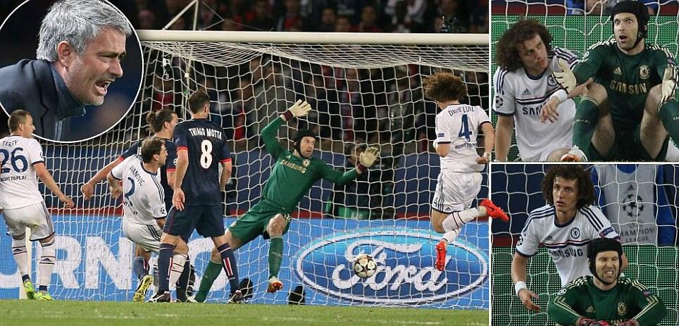 Chelsea's David Luiz scores an own goal