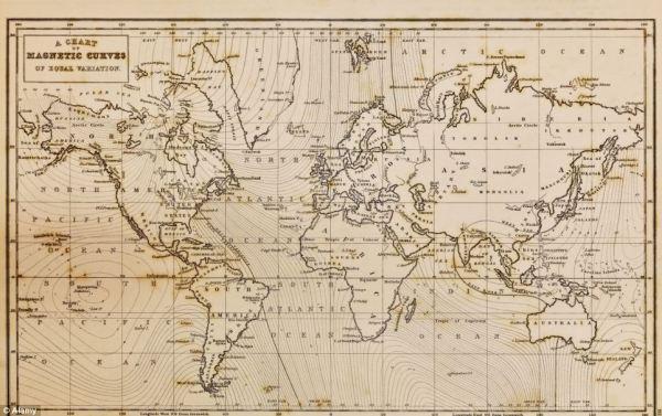 Ancient Roman map of Britain plots Scotland in North Sea