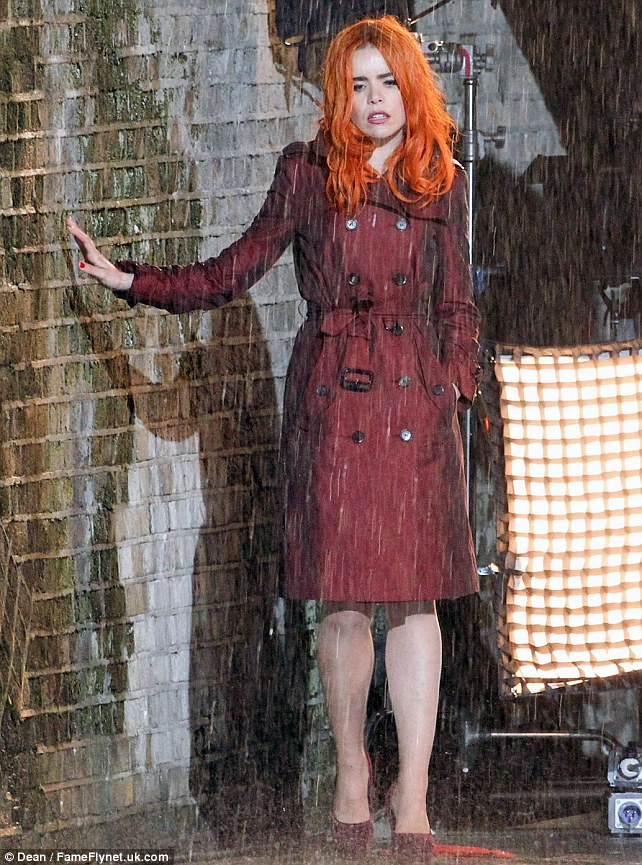 Paloma Faith Looks Under The Weather As She Films Her New