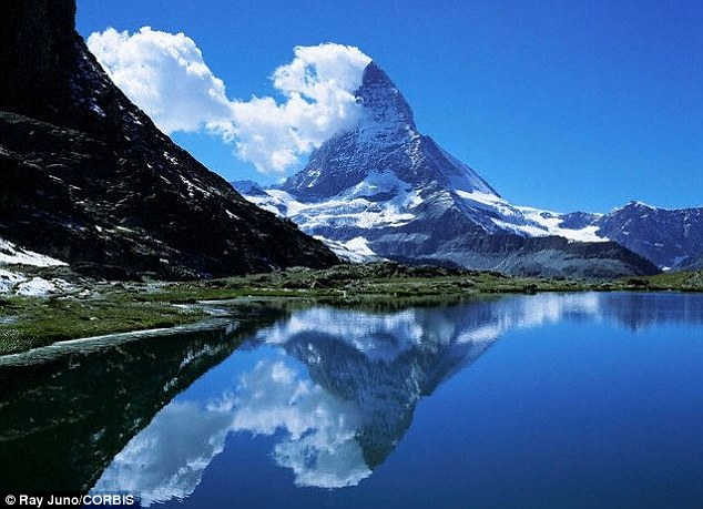Formidable: The Matterhorn, seen here from the banks of Lake Riffelsee, has claimed the lives of 500 climbers
