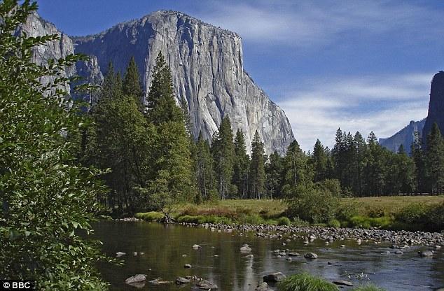 Next challenge: Mr Andrew hopes to scale El Capitan; a 2,308m escarpment in California's Yosemite National Park