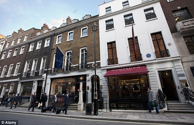 James Sherwood, author of Savile Row: The Master Tailors of British Bespoke, says our desire for cheap fashion is responsible for the decline in quality. Pictured, Savile Row in London