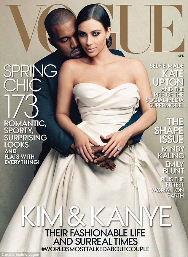 Image result for kim kardashian on vogue cover