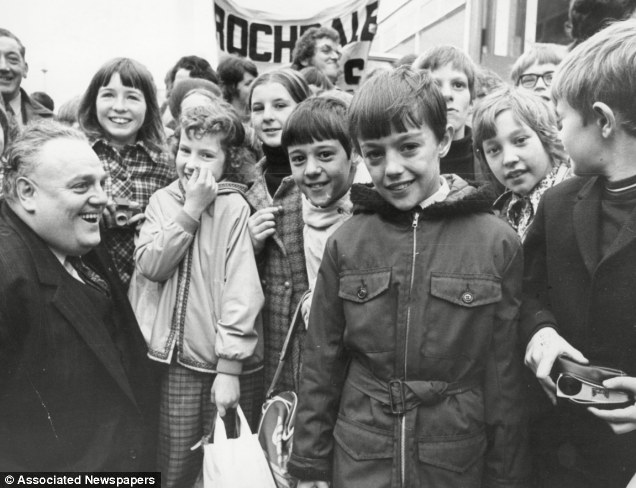 Just like Jimmy Savile - whom he counted as a friend - Cyril Smith used his public image as a shield while manipulating his way into positions of influence over vulnerable young people he then ruthlessly abused. Above, Smith (bottom left) with children outside the House of Commons