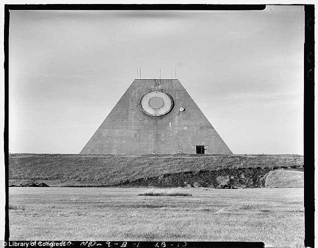 Radar: The pyramid building at the Complex is a radar facility that scanned the sky for any incoming objects that could harm the U.S.