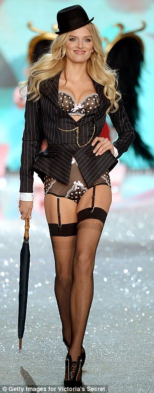 Positively Angelic: Jourdan Dunn and Lily Donaldson were among the models who walked the runway in the 2013 Victoria's Secret show