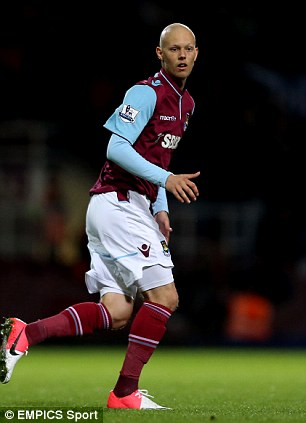 Tragedy: Tombides made one appearance for West Ham in the Capital One Cup in 2012