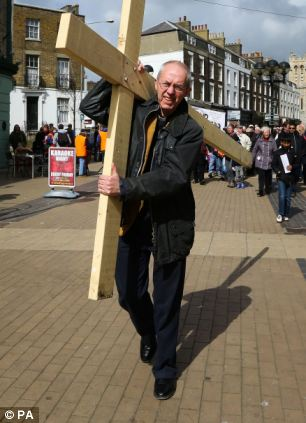 The Archbishop of Canterbury Justin Welby (pictured in Kent on Friday) has suggested he cannot allow the blessing of gay marriages because it would split the global Anglican Church