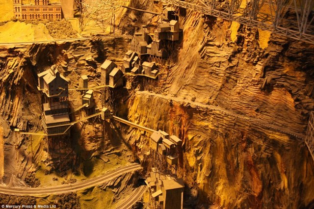 Intricate: Northlandz, in Flemington, New Jersey, was painstakingly constructed by hand by Bruce Williams Zaccagnino