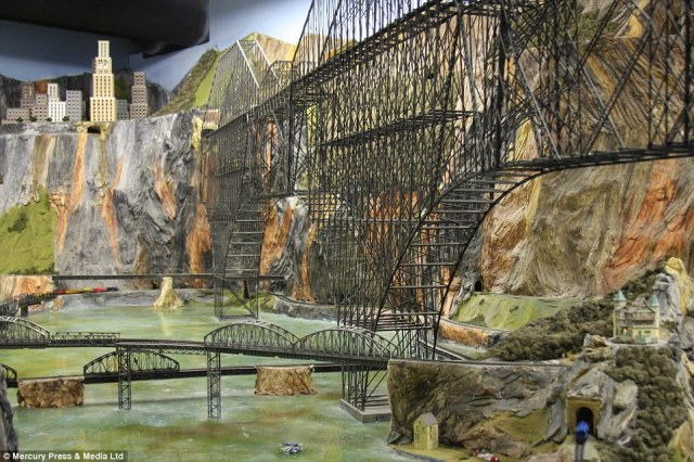 Northlandz model railroad, in Flemington, New Jersey, was painstakingly constructed by hand and took 16 years to complete