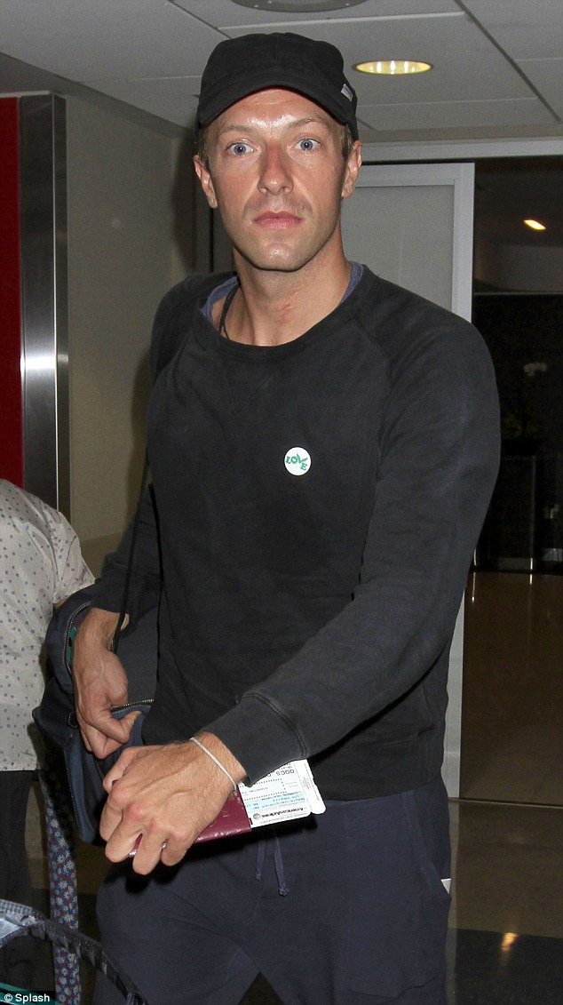 All You Need Is LOVE Coldplay Frontman Chris Martin Wears