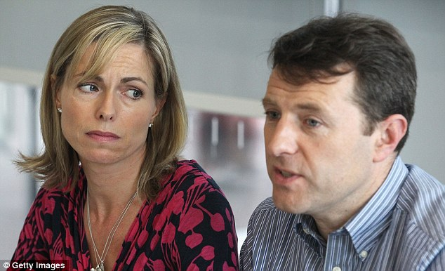Ordeal: Kate McCann and Gerry McCann, who have to endure not knowing what happened to their daughter for seven years