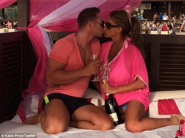 The colour of romance: Katie Price and Kieran Hayler looked loved-up on holiday in Cape Verde