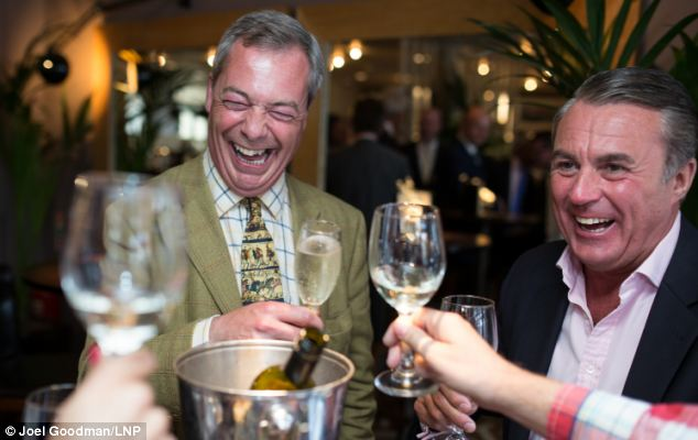The row is a blow for Ukip leader Nigel Farage, who spent the day campaigning in Knutsford in Cheshire