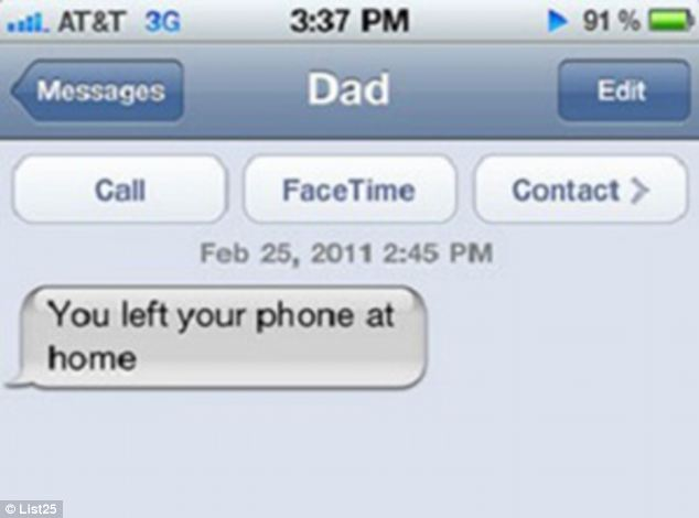 Oops! Meanwhile, a father's caring text to his son backfires as he texts the device that has been left behind
