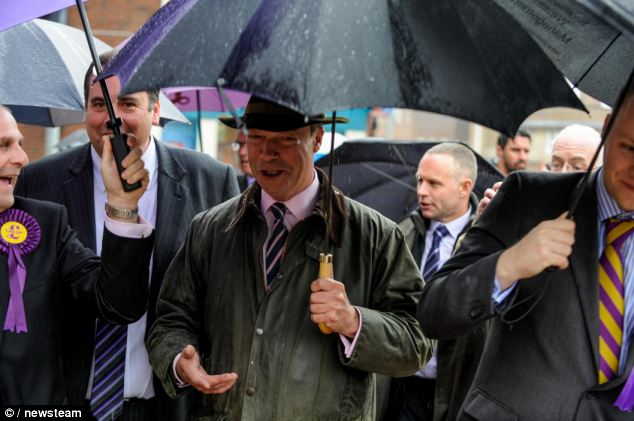 Never rains then it pours: Ukip leader Nigel Farage admitted something had gone wrong with the party's vetting system
