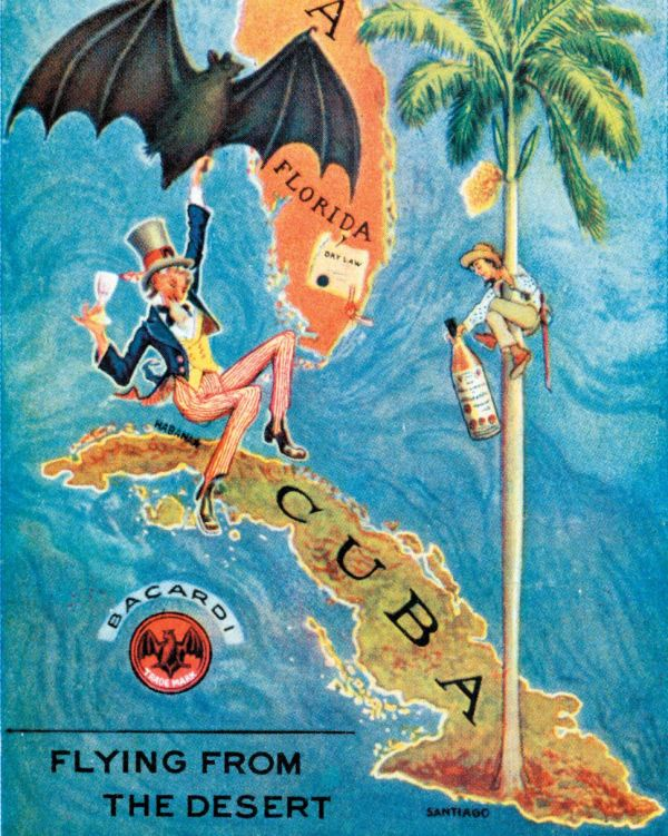 Vintage Bacardi Rum Bat Advertisement