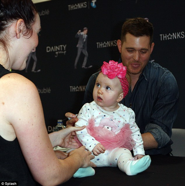 michael buble causes baby