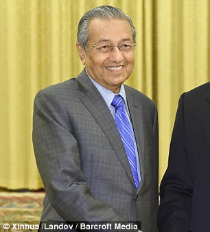 Former Malaysian Prime Minister Mahathir Mohamad picture in Beijing last week