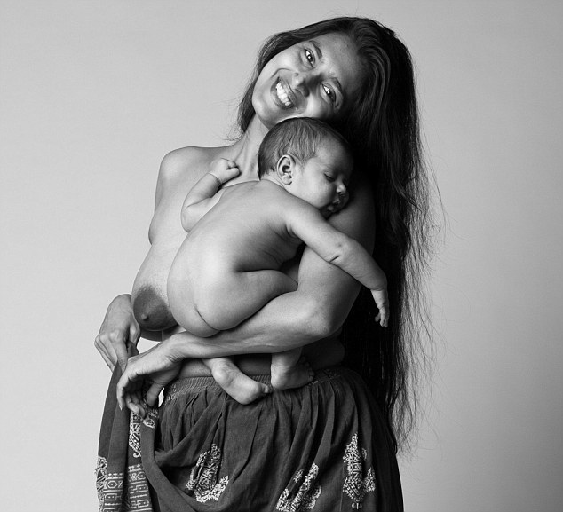 One of Beall's subjects Kasthuri. Her first child was born via a C-section after complications during birth