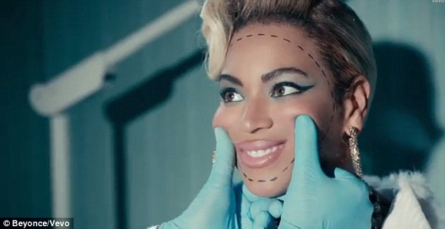 Dotted lines: Beyonce says she finds what women go through for beauty'heartbreaking'
