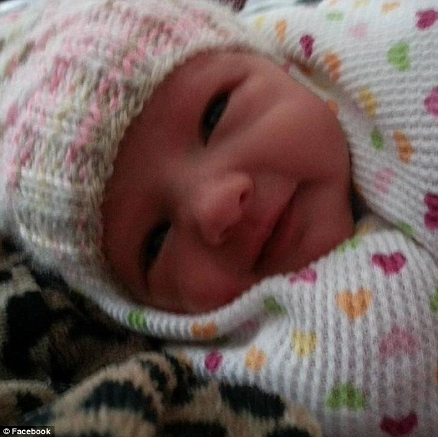 Newborn: Tiny Bailey Irish died on Saturday after being brought unresponsive to hospital by her parents