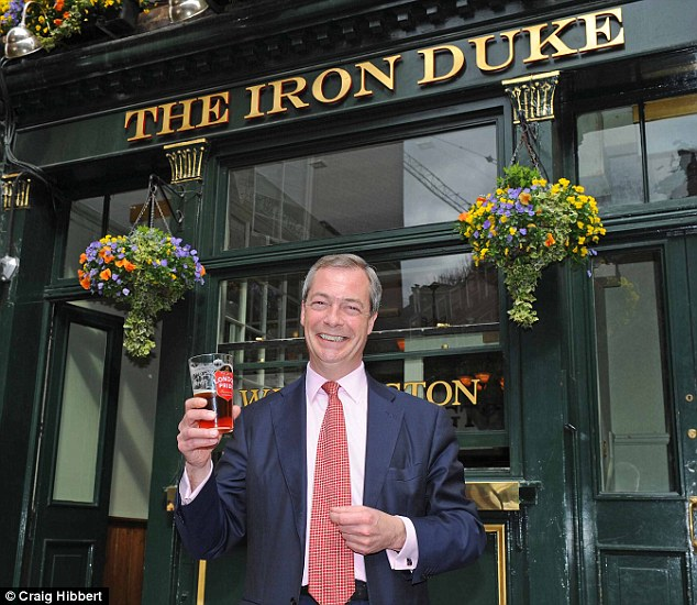 Defiant: UKIP leader Nigel Farage has spent the week defending his party