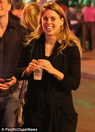 Princesses Beatrice (left) and Eugenie (right) of York enjoyed drinks on Beale Street in Memphis on Thursday evening with their friends Sam Pelly and Lizzy Wilson ahead of their wedding this weekend