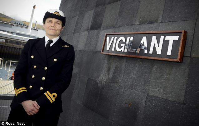 Ever vigilant: Lt Penny Thackray, 39, from Hightown in West Yorkshire, will become an education oficer