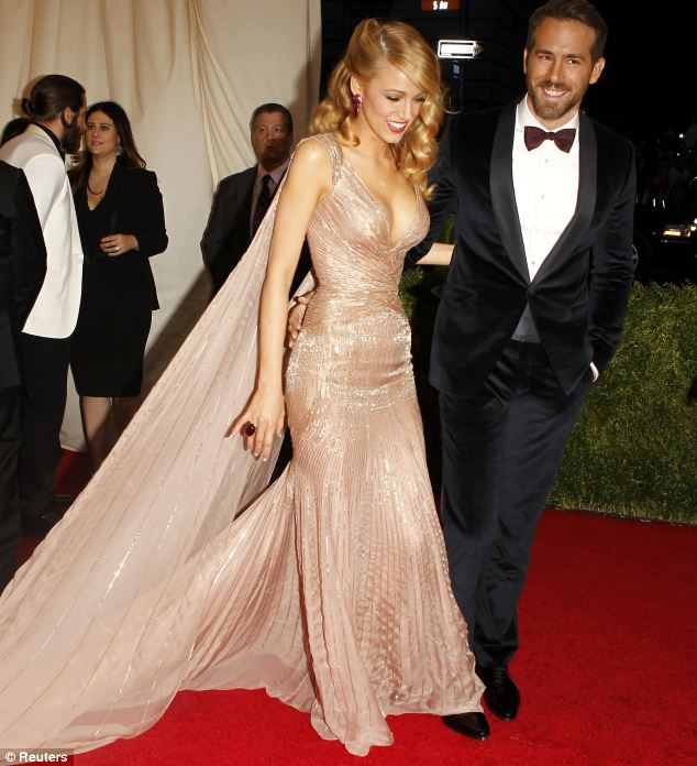 Something funny? Blake and Ryan share a joke on the red carpet of the MET Ball in New York