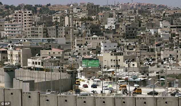 Abroad: Jaber claimed he was 'emotionally scarred into drug taking' by his experiences after being born in a refugee camp in the Palestinian West Bank. STOCK IMAGE of the Palestinian refugee camp at Qalandia
