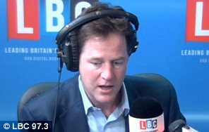 Deputy Prime Minister Nick Clegg said he is a 'great fan' of Pizza Express