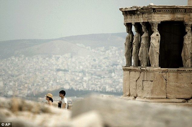 The Acropolis' famed Caryatid statues get the nip/tuck treatment | Mail Online