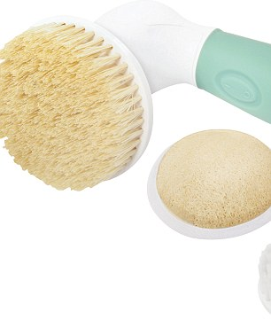 Elle says that a body brush is one of her best kept secrets and thinks exfoliation is key to looking good