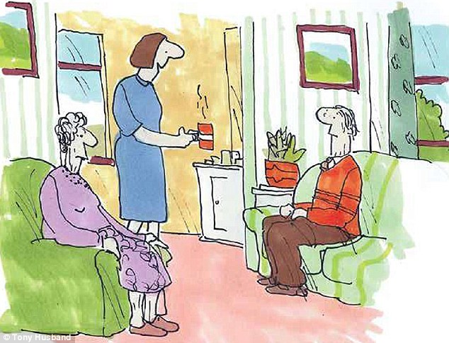 But for us - your family - it was arelief to know you were safe and being looked after. You had full-time carers ... we could visit when we wanted. 'Tea up, everyone.'