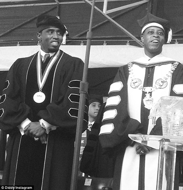 Great milestone! The 44-year-old star was asked to give a commencement speech for students and classmates, who gave him a standing ovation