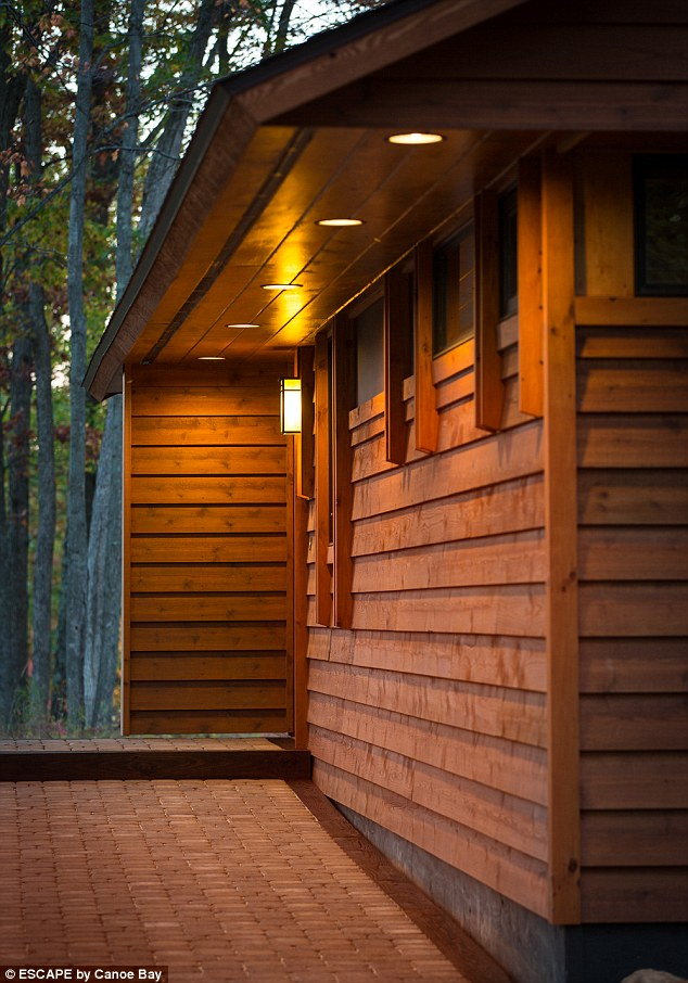 The project started when visitors to a small lakeside resort called Canoe Bay started asking for their own versions of the resort¿s carefully constructed cabins