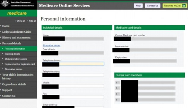 Australians private information at risk after flaws found in MyGov website  Daily Mail Online