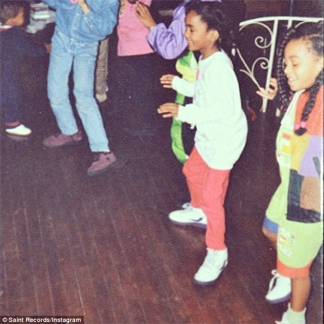 'Been doing that bestieees Nae Nae since 92!' Solange's fourth picture on Thursday was of herself and a gal pal doing an Atlanta dance named after    Martin Lawrence's sitcom drag role Sheneneh