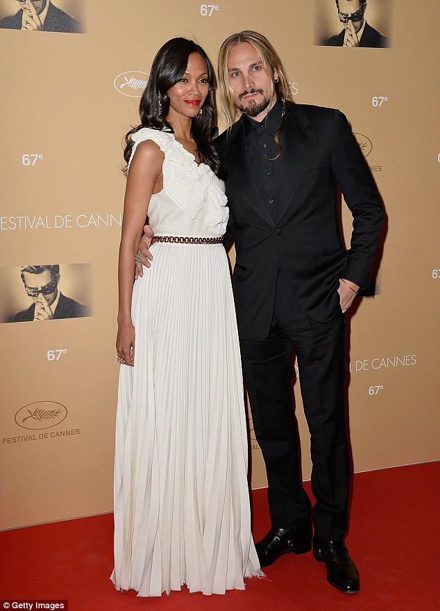 Beautiful couple: Zoe posed with her new husband Marco Perego at the Cannes Opening Ceremony dinner on Wednesday night